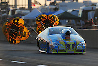 Jul, 9, 2011; Joliet, IL, USA: NHRA pro stock driver Greg Stanfield during qualifying for the Route 66 Nationals at Route 66 Raceway. Mandatory Credit: Mark J. Rebilas-