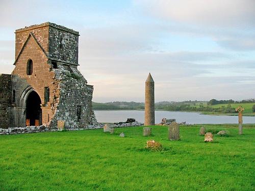 Devenish Island on Lough Erne, near Enniskillen