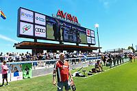 SAN JOSE, CA - JUNE 8: Krazy George during a game between FC Dallas and San Jose Earthquakes at Avaya Stadium on June 8, 2019 in San Jose, California.