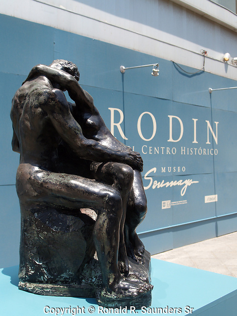 Auguste Rodin's The KISS at museum in Mexico City