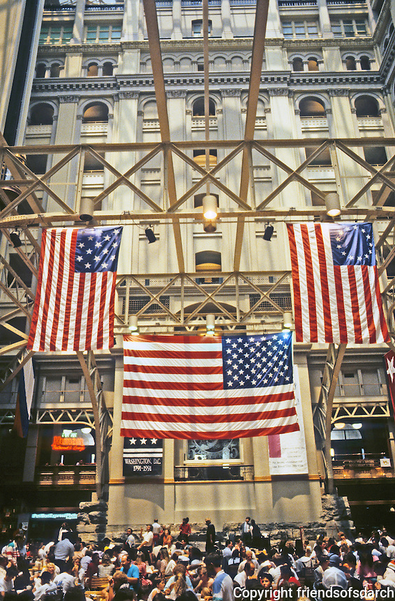 Washington D.C. : Old Post Office--Interior. An aluminum glazed roof  'way up there!  Photo '91.