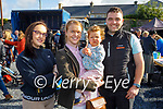 At the Castlemaine Fair in memory of the late John O'Donoghue and as a fundraiser for the Kerry Hospice on Sunday l to r: Shannon and Alannah Regan (Killorglin), Mia Keating (Beaufort) and Mikey Grady (Kells).