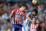 CD Leganes' Oscar Rodriguez Arnaiz (r) and Atletico de Madrid's Stefan Savic during La Liga match. November 3,2018. (ALTERPHOTOS/Acero)