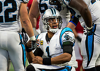 Photography of the Carolina Panthers  v. The Atlanta Falcons during their NFL game Mercedes-Benz Stadium in Atlanta, GA.<br /> <br /> Charlotte Photographer - Patrick Schneider