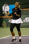 March 8, 2019: Serena Williams (USA) reacts as she defeated Victoria Azarenka (BLR) 7-5, 6-3 at the BNP Paribas Open at the Indian Wells Tennis Garden in Indian Wells, California. ©Mal Taam/TennisClix/CSM