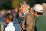 March 2010: Rachel Alexandria's trainer, Steve Asmussen reacts after loosing the 1st running of the New Orleans Ladies at the Fairgrounds in New Orleans, La.