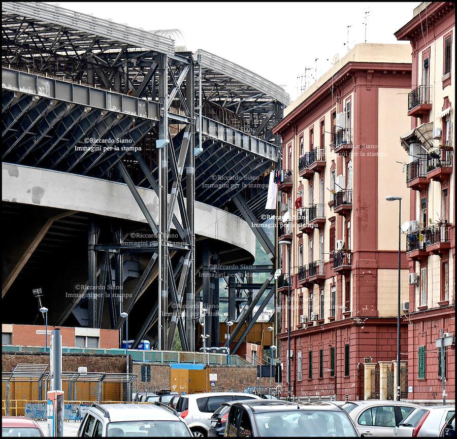 - NAPOLI 11 MAR  2014 - fuorigrotta e stadio san paolo