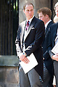 PRINCE WILLIAM LEAVES CANONGATE KIRK IN EDINBURGH AFTER THE WEDDING OF ZARA PHILLIPS AND MIKE TINDALL
