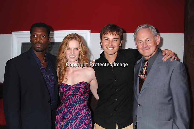 """Cast of """"Justice"""" Eamonn Walker, Kerr Smith, Rebecca Mader an..and Victor Garber..at The Fox Upfront 2006-2007  Fall Announcement ..of their new Schedule on May 18, 2006..at Guastavinos...Robin Platzer, Twin Images"""
