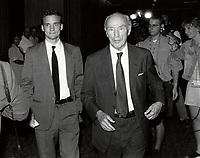 Montreal (QC) CANADA file photo -<br /> <br /> <br />  - Pierre Trudeau and son