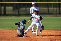 Parrish Jacobi (5) of Greensboro, North Carolina during the Baseball Factory All-America Pre-Season Rookie Tournament, powered by Under Armour, on January 14, 2018 at Lake Myrtle Sports Complex in Auburndale, Florida.  (Michael Johnson/Four Seam Images)