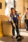 HALLANDALE BEACH, FL - FEBRUARY 04: Gulfstream Park employee keeping the facilities clean. Scenes from Gulfstream Park, at Gulfstream Park, Hallandale Beach, FL. (Photo by Arron Haggart/Eclipse Sportswire/Getty Images)
