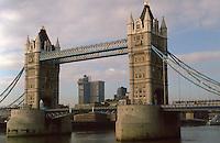 London:  Tower Bridge from St. Katherine's.  Sir Horace Jones & Sir John Wolfe Barry, 1886-1894.  Photo 2005.