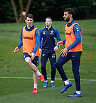 29.03.2019 Rangers training: Ryan Jack and Connor Goldson