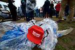 A 'Make America Great Again' hat is left for trash and found the moment Donald J. Trump takes the oath of office, during he January 20, 2017 Inauguration Ceremony, in Washington D.C.<br /> <br /> Iconic red hats sold as 'official' merchandise during the Inauguration turned out to be made in China and Vietnam, which turned many of Trump's supports angry.