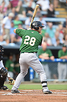 Savannah Sand Gnats left fielder Michael Conforto #28 awaits a pitch during a game against the Asheville Tourists at McCormick Field September 3, 2014 in Asheville, North Carolina. The Tourists defeated the Sand Gnats 8-3. (Tony Farlow/Four Seam Images)