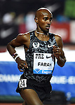 Mo Farah of Great Britain runs in the Men's 10000 meter run on the opening day of the Prefontaine Classic at Hayward Field in Eugene, Oregon, USA, 29 MAY 2015.<br /> (EPA Photo by Steve Dykes)
