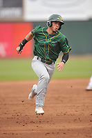 Beloit Snappers outfielder Luis Barrera (16) in action during a game against the Cedar Rapids Kernels at Veterans Memorial Stadium on April 8, 2017 in Cedar Rapids, Iowa.  The Snappers won 7-6.  (Dennis Hubbard/Four Seam Images)