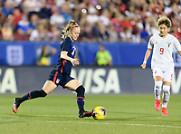 FRISCO, TX - MARCH 11: Becky Sauerbrunn #4 of the United States clears the ball from her goal against Japan during a game between Japan and USWNT at Toyota Stadium on March 11, 2020 in Frisco, Texas.