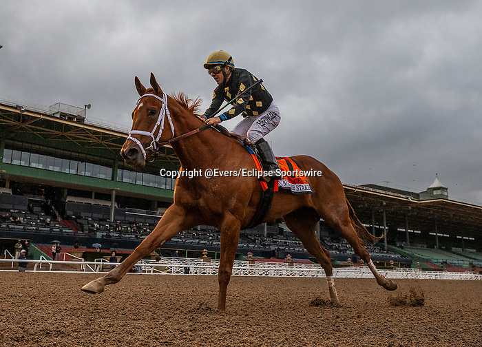 MAR 14: Ce Ce with Victor Espinoza wins the G1 Beholder Mile at Santa Anita Park in Arcadia, California on March 14, 2020. Evers/Eclipse Sportswire/CSM