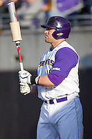 Kyle Roller #19 of the East Carolina Pirates waits in the on deck circle at Clark-LeClair Stadium on February 19, 2010 in Greenville, North Carolina.   Photo by Brian Westerholt / Four Seam Images