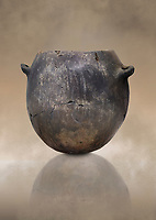 Neolithic terracotta pot . Catalhoyuk collection, Konya Archaeological Museum, Turkey