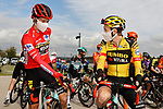 Race winner Primoz Roglic (SLO) and Team Jumbo-Visma line up for the start of Stage 18 of the Vuelta Espana 2020, running 139.6km from Hipódromo de La Zarzuela to Madrid, Spain. 8th November 2020. <br /> Picture: Luis Angel Gomez/PhotoSportGomez | Cyclefile<br /> <br /> All photos usage must carry mandatory copyright credit (© Cyclefile | Luis Angel Gomez/PhotoSportGomez)
