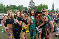 Pictured: A party of women enjoy the concert. Saturday 26 May 2018<br /> Re: BBC Radio 1 Biggest Weekend at Singleton Park in Swansea, Wales, UK.