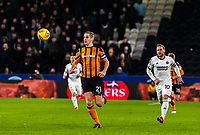 Hull City's defender Michael Dawson (21)  chases the ball back during the Sky Bet Championship match between Hull City and Sheff United at the KC Stadium, Kingston upon Hull, England on 23 February 2018. Photo by Stephen Buckley / PRiME Media Images.