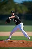 William Pickford during the WWBA World Championship at the Roger Dean Complex on October 20, 2018 in Jupiter, Florida.  William Pickford is a right handed pitcher from Vienna, Virginia who attends Bishop O'Connell High School.  (Mike Janes/Four Seam Images)