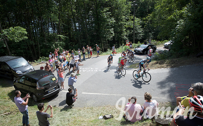 race leaders up the Monte Ologno (1168m)<br /> <br /> Giro d'Italia 2015<br /> stage 18: Melide (SUI) - Verbania (170km)