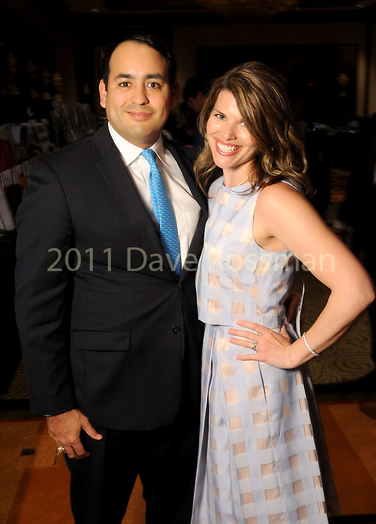 """Andrew Hernandez and Brittany Horine at the 2017 Kickstart Kids Gala """"Heroes Among Us"""" at the Hilton Americas Hotel Friday March 24, 2017.(Dave Rossman Photo)"""