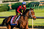 April 27, 2021: Coach exercises in preparation for the Kentucky Oaks at Churchill Downs on April 27, 2021 in Louisville, Kentucky. Scott Serio/Eclipse Sportswire/CSM