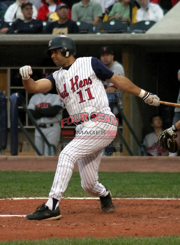 August 31, 2003:  Second baseman Kevin Jordan of the Toledo Mudhens, Class-AAA affiliate of the Detroit Tigers, during a International League game at Fifth Third Field in Toledo, OH.  Photo by:  Mike Janes/Four Seam Images