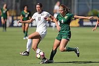 BERKELEY, CA - September 16, 2016: Cal Bears Women's Soccer team vs. the University of San Francisco Dons at Goldman Field. Final score, Cal Bears 4, USF 1