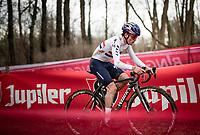 Tom Pidcock (GBR/Trinity)<br /> <br /> 2021 UCI CX World Cup Overijse (BEL)<br /> Vlaamse Druivencross<br /> <br /> Men's Race<br /> <br /> ©kramon