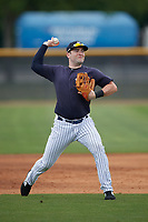 New York Yankees Mitchell Robinson (18) during a Minor League Spring Training game against the Atlanta Braves on March 12, 2019 at New York Yankees Minor League Complex in Tampa, Florida.  (Mike Janes/Four Seam Images)