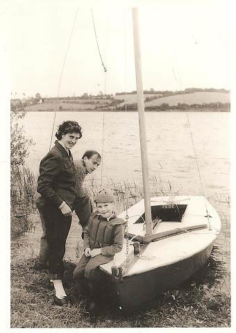 Snipe on Eskragh Lough c 1958 courtesy Paul Bryans (sitting on foredeck)