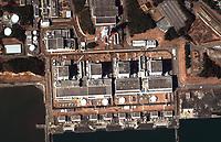 Earthquake and Tsunami damage, Japan-March 12, 2011: This is a satellite image of Japan showing damage after an Earthquake and Tsunami at the Fukushima Dai-Ni Nuclear Power plant. (credit: DigitalGlobe) www.digitalglobe.com