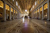 The intriour of Santa Maria Maggiore basilica in Rome, Italy