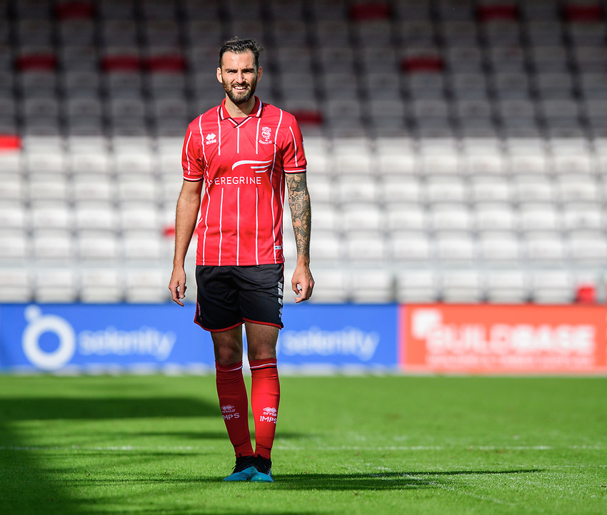Lincoln City's Adam Jackson<br /> <br /> Photographer Chris Vaughan/CameraSport<br /> <br /> The EFL Sky Bet League One - Saturday 12th September 2020 - Lincoln City v Oxford United - LNER Stadium - Lincoln<br /> <br /> World Copyright © 2020 CameraSport. All rights reserved. 43 Linden Ave. Countesthorpe. Leicester. England. LE8 5PG - Tel: +44 (0) 116 277 4147 - admin@camerasport.com - www.camerasport.com - Lincoln City v Oxford United