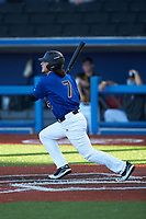 Noah Carter (7) of Lake View High School (SC) playing for the New York Mets scout team during game three of the South Atlantic Border Battle at Truist Point on September 26, 2020 in High Pont, NC. (Brian Westerholt/Four Seam Images)