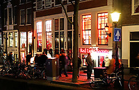 Nederland Amsterdam 2018.  Red Light District. Oudezijds Achterburgwal. De Wallen. Red Light Sectrets museum. Foto Berlinda van Dam / Hollandse Hoogte