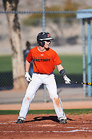 Hayden Netland (52), from Moorhead, Minnesota, while playing for the Orioles during the Under Armour Baseball Factory Recruiting Classic at Red Mountain Baseball Complex on December 28, 2017 in Mesa, Arizona. (Zachary Lucy/Four Seam Images)