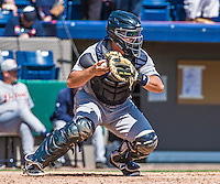 16 March 2014: Detroit Tigers catcher John Murrian in action during a Spring Training Game against the Washington Nationals at Space Coast Stadium in Viera, Florida. The Tigers edged out the Nationals 2-1 in Grapefruit League play. Mandatory Credit: Ed Wolfstein Photo *** RAW (NEF) Image File Available ***