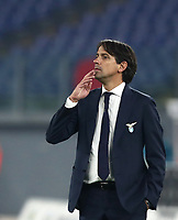 Calcio, Serie A: S.S.Lazio - Napoli, Olympic stadium, Rome, December 20, 2020. <br /> Lazio's coach Simone Inzaghi looks on during the Italian Serie A football match between Lazio and Napoli at the Olympic stadium, on December 20, 2020.<br /> UPDATE IMAGES PRESS/Isabella Bonotto