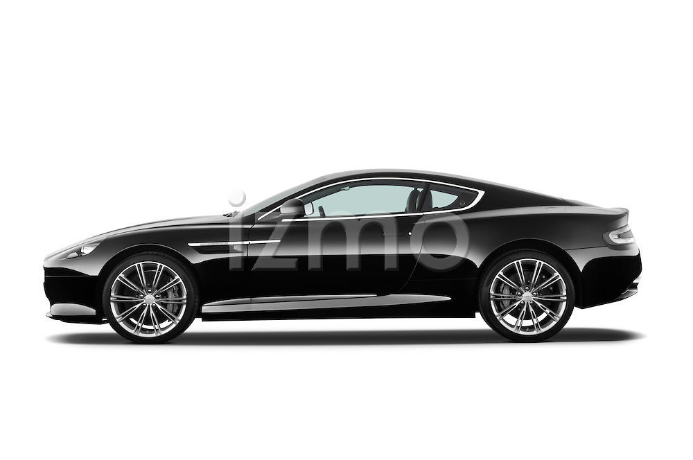 Driver side profile view of a 2012 Aston Martin Virage .