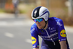 Sam Bennett (IRL) Deceuninck-Quick Step recons the course before Stage 2 of the 2021 UAE Tour an individual time trial running 13km around  Al Hudayriyat Island, Abu Dhabi, UAE. 22nd February 2021.  <br /> Picture: Eoin Clarke | Cyclefile<br /> <br /> All photos usage must carry mandatory copyright credit (© Cyclefile | Eoin Clarke)