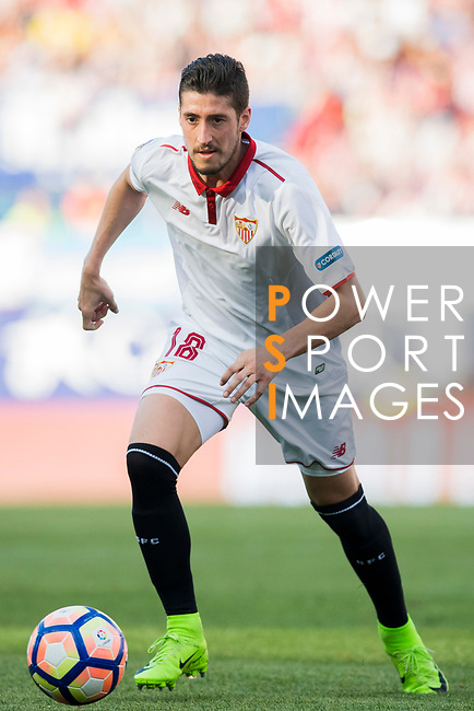 Sergio Escudero Palomo of Sevilla FC in action during their La Liga match between Atletico de Madrid and Sevilla FC at the Estadio Vicente Calderon on 19 March 2017 in Madrid, Spain. Photo by Diego Gonzalez Souto / Power Sport Images
