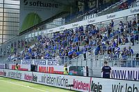 Fans des SV Darmstadt 98 im Stadion<br /> <br /> - 24.07.2021 Fussball 2. Bundesliga, Saison 21/22, Spieltag 1, SV Darmstadt 98 - SV Jahn Regensburg, Stadion am Boellenfalltor, emonline, emspor, <br /> <br /> Foto: Marc Schueler/Sportpics.de<br /> Nur für journalistische Zwecke. Only for editorial use. (DFL/DFB REGULATIONS PROHIBIT ANY USE OF PHOTOGRAPHS as IMAGE SEQUENCES and/or QUASI-VIDEO)